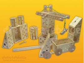 dřevěná Polikarpova stavebnice 17