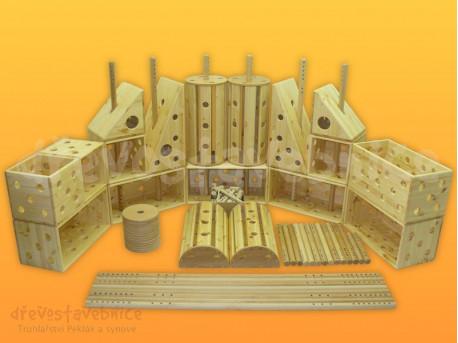 Polikarpova dřevěná stavebnice 25