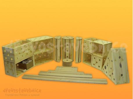 Polikarpova dřevěná stavebnice 18