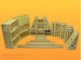 dřevěná Polikarpova stavebnice sestava 10