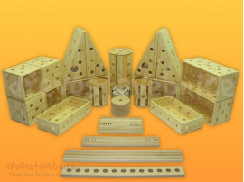 dřevěná Polikarpova stavebnice sestava 04