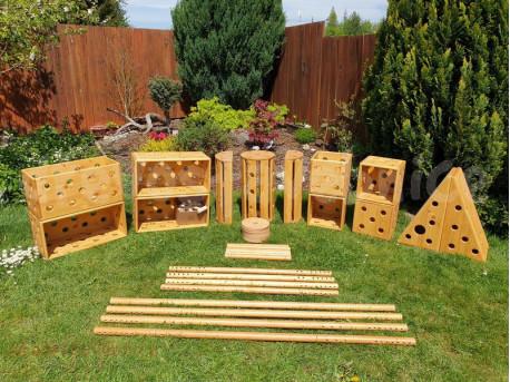 Polikarpova stavebnice zahradní set 18