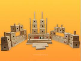 Amea dřevěná stavebnice