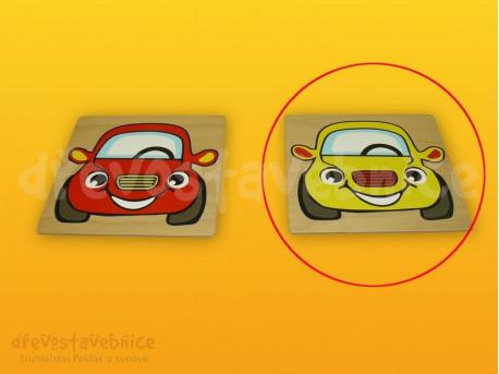 Polikarp. stav. čelní destička žluté auto