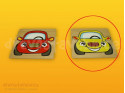 čelní destička žluté auto