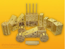 Polikarpova dřevěná stavebnice 19