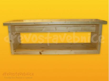 lavice 120 cm, soklová police